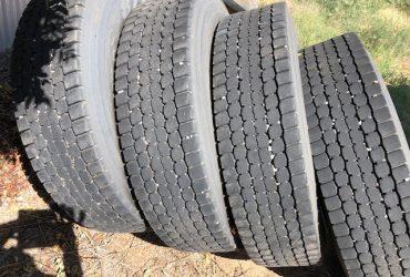 11R22.5 Dunlop Drive Tyre x 4 60-70% Tread
