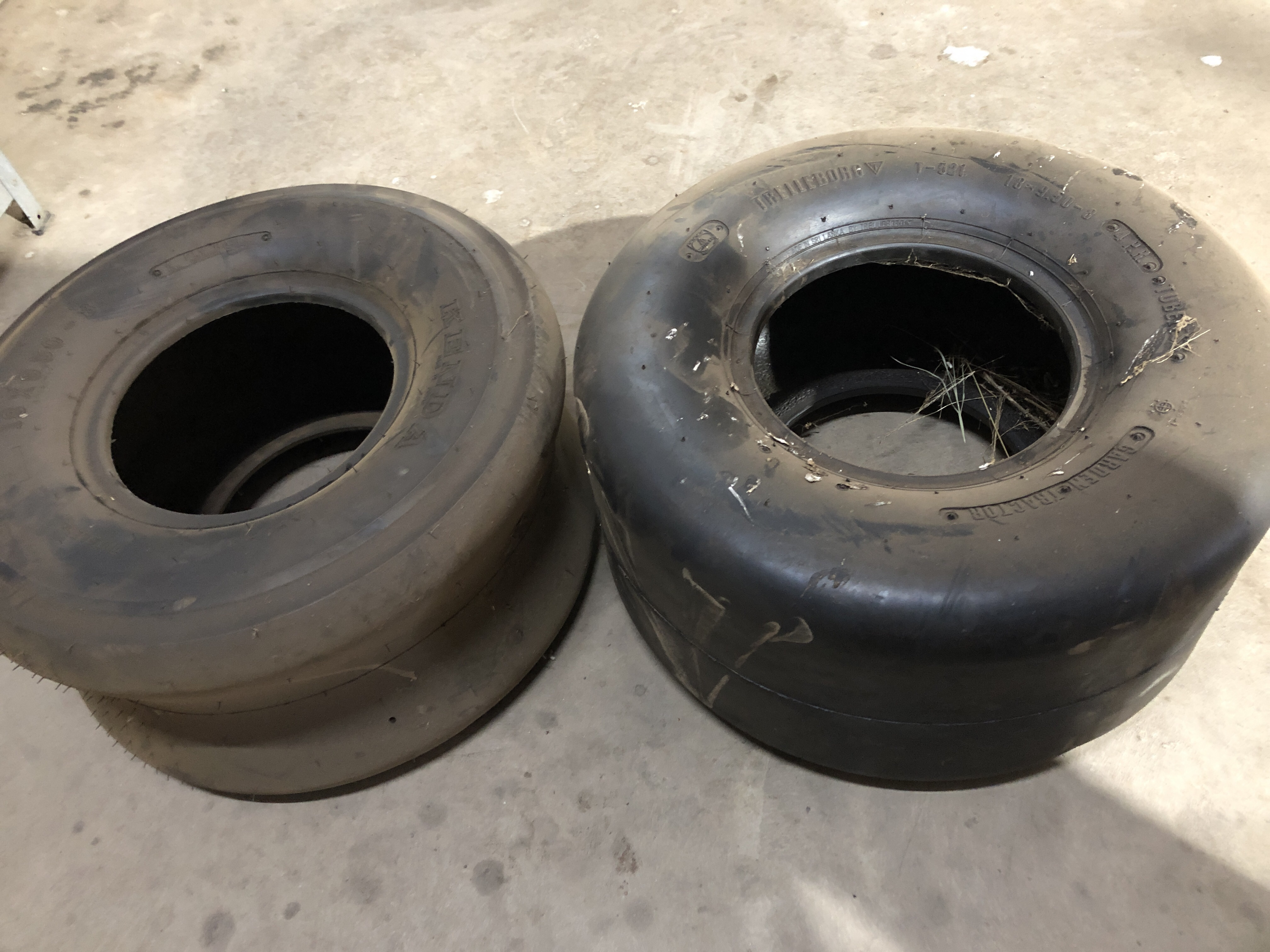 18.9.50-8 smooth tyres x 2