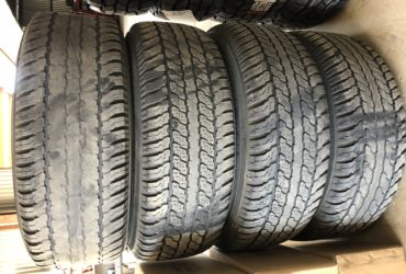 4 x 265/65R17 Yokohama AT on hilux rims