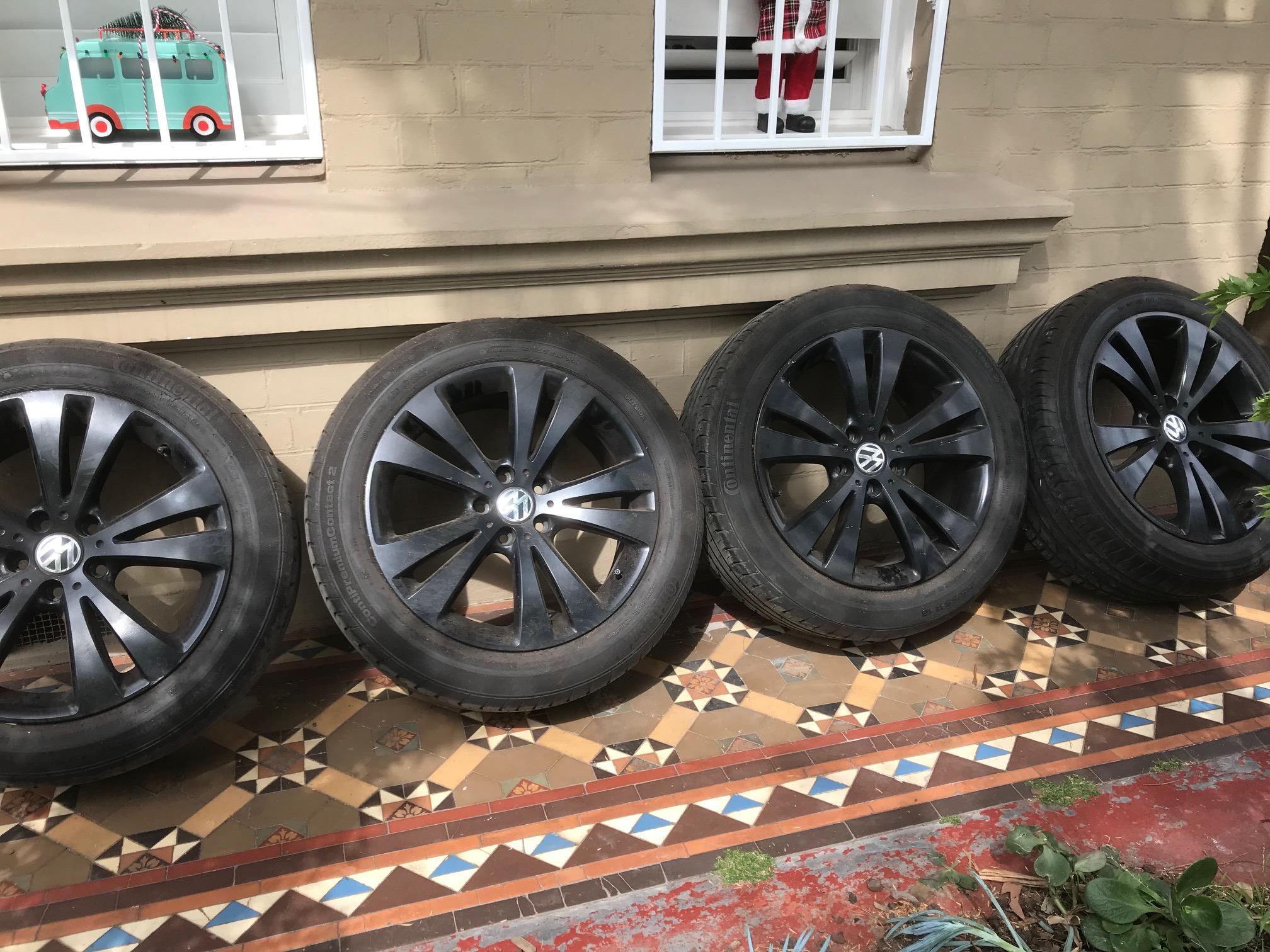4 x Conti Premium Contact 2 Volkswagon Tyres – As New